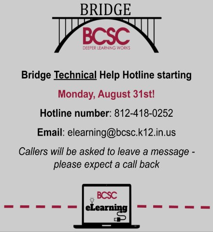 eLearning / Bridge Helpline Info
