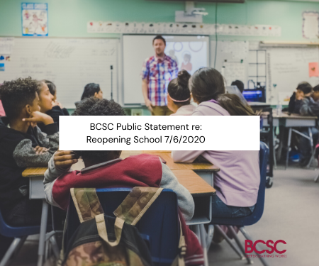 BCSC Public Statement re: Reopening School 7/6/2020